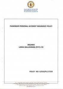 Lanka Ballooning Insurance Policy