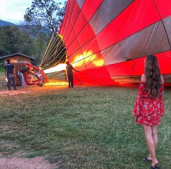 Hot Air Ballooning Sri Lanka Balloon Bording and Take Off