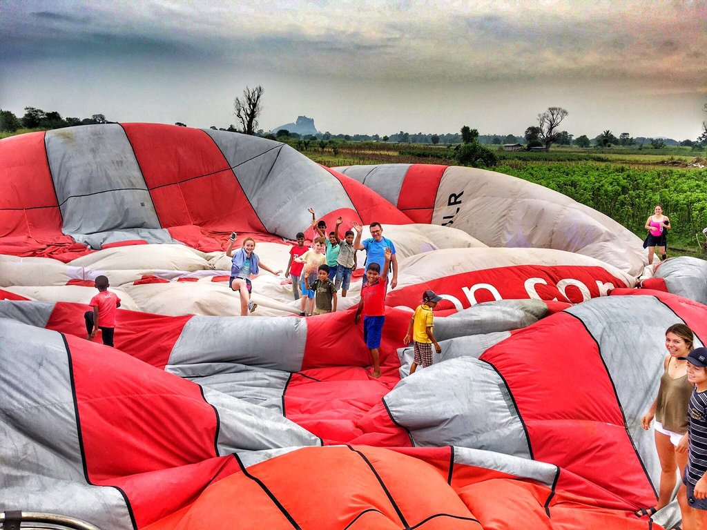 Sri Lanka Balloon Landing Hot Air Balloon Rides in Sri Lanka